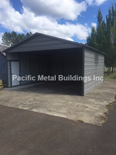 "18x20x8 Box Eave unit closed on both sides, back end, 1 gable end in the front end and 1-32""x 72"" walk in door on one side #5919"