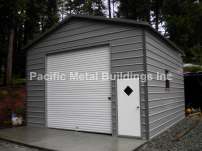 "18x20x11 Box Eave unit fully enclosed with 1-10x10 roll up door, 1-30""x30"" window and 1-32""x72"" man door #424"